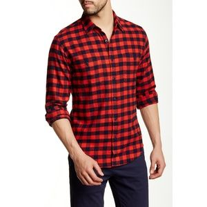 Men's J. Crew Slim Buffalo Plaid Flannel Shirt XL
